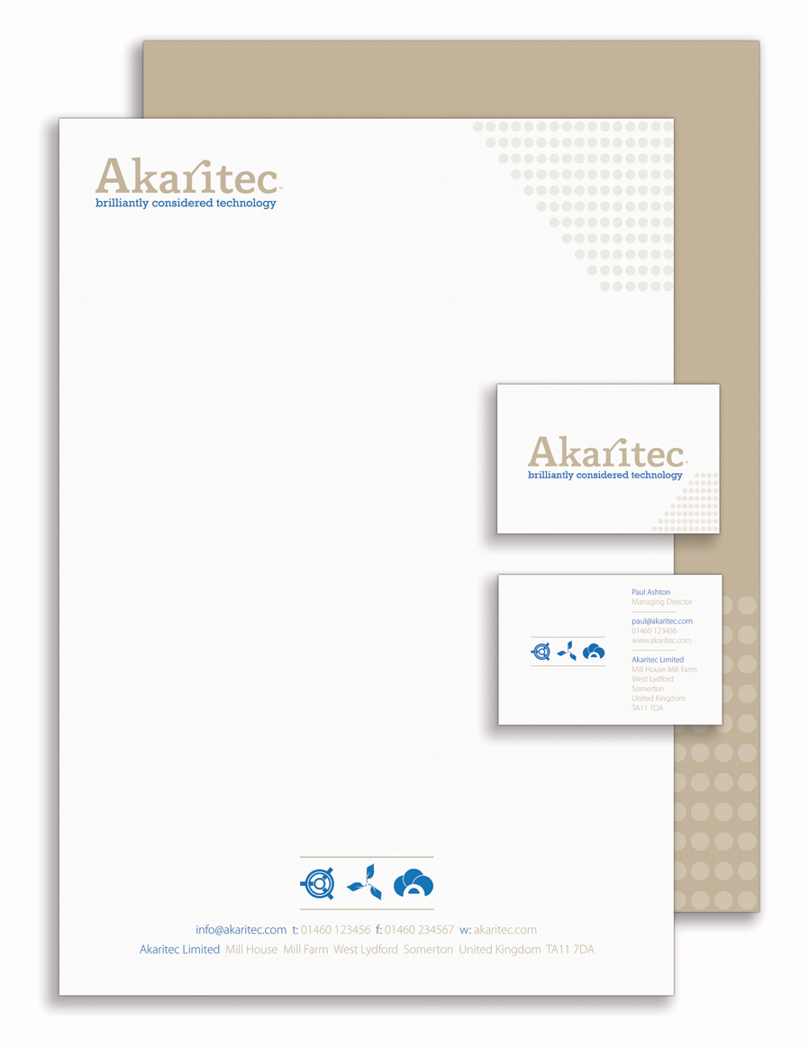 Akaritec Branded Documents by Theory Unit Graphic Design