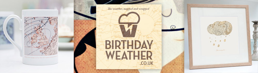 Birthday Weather Logo by Theory Unit Graphic Design in Sherborne, Dorset near Yeovil