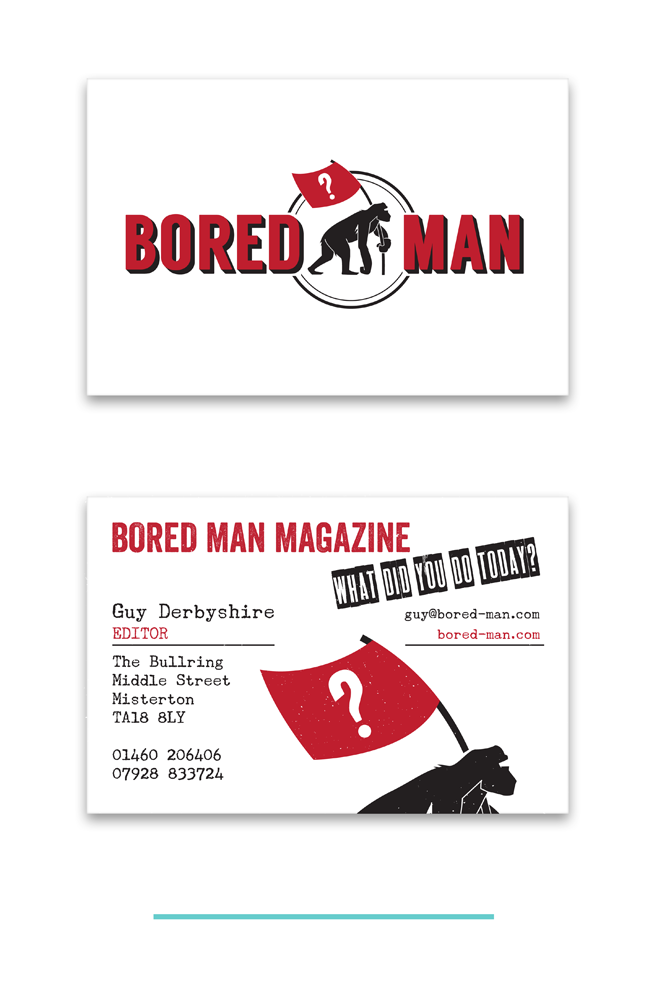 Bored Man Magazine Branding & Identity by Theory Unit Graphic Design in Yeovil