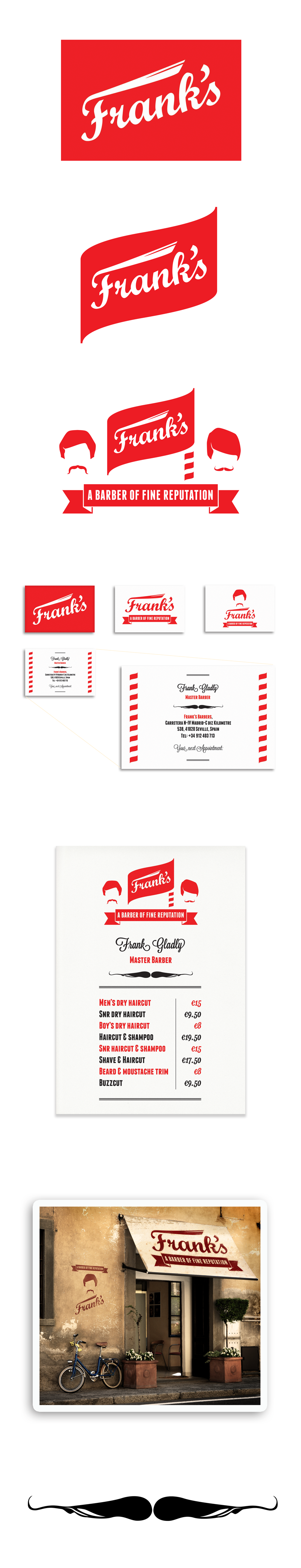 Barber Requirements : FRANKS BARBER SHOP QUICK-LOOK PROJECT REQUIREMENTS: logo designs ...