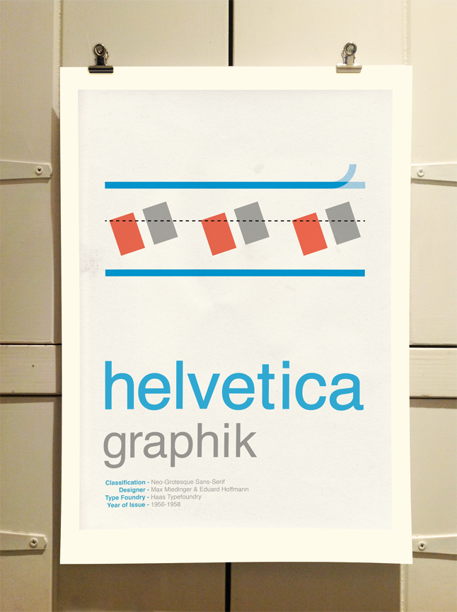 Helvetica Poster by Theory Unit Graphic Design
