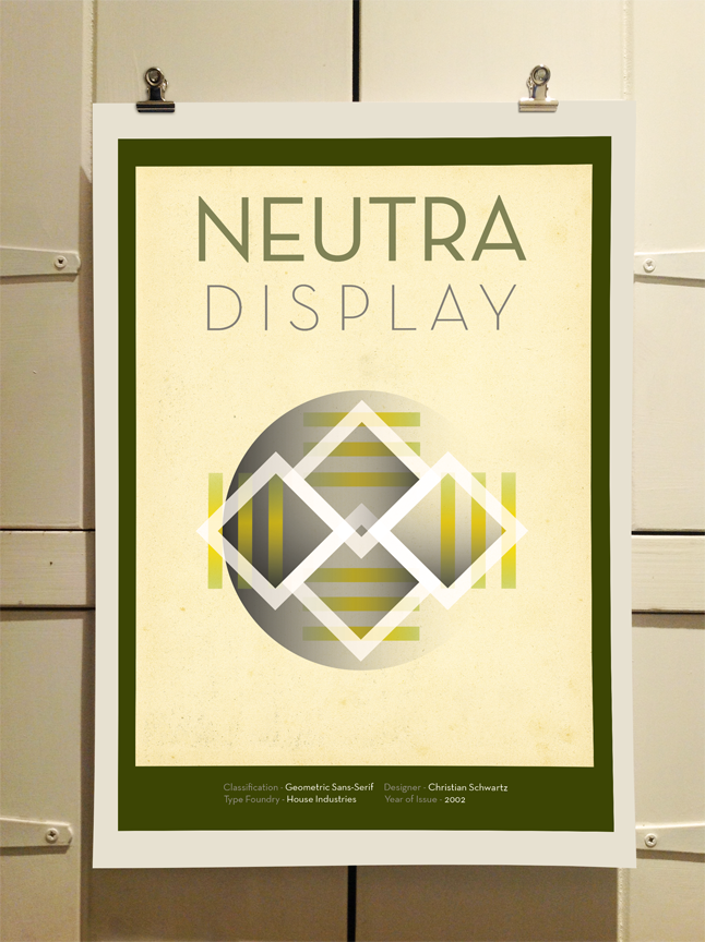 Neutra Face Poster by Theory Unit Graphic Design